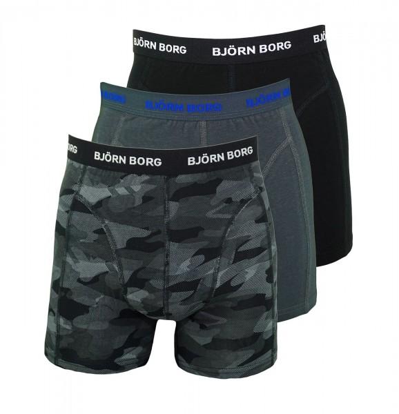 Björn Borg 3er Pack Boxershorts Unterhosen 1731-1399 90651 schwarz multicolor W19-BBS1