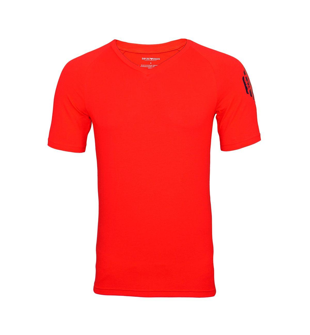 Emporio Armani T-Shirt V-Ausschnitt 111760 8P725 17574 TANGO RED F18-EAT1