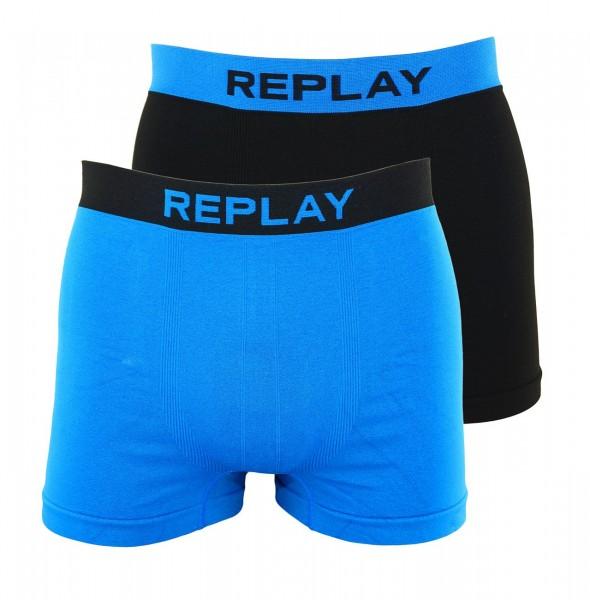 Replay 2er Pack Boxer Shorts Unterhosen I101010-001 N148 blue, black WF19-RPT2