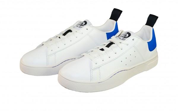 Diesel Sneaker CLEVER Low Y01748 P1729 H4034 white brilliant blue SH19-DS1