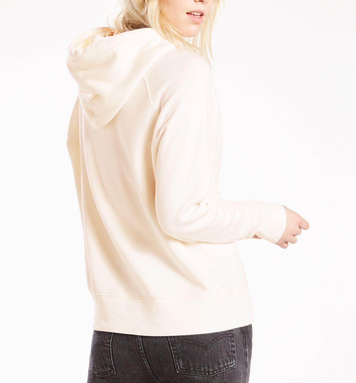 LEVIS Pullover für Damen Hoodie Sweater 35946-0001 weiss W18-LDP1