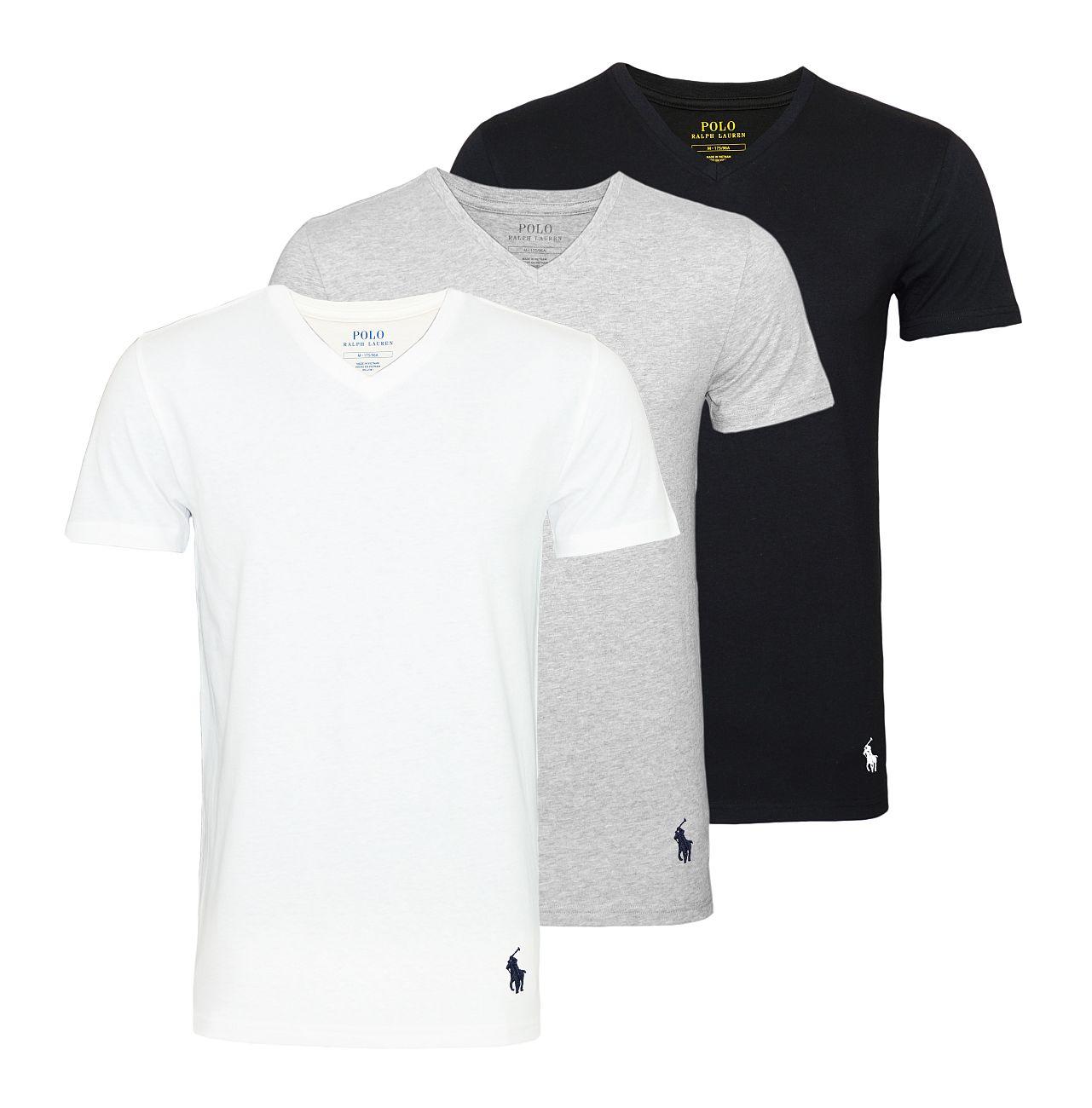 Ralph Lauren 3er Pack T-Shirts Classic V-Ausschnitt multi color 714709276003 S18-RLTS1