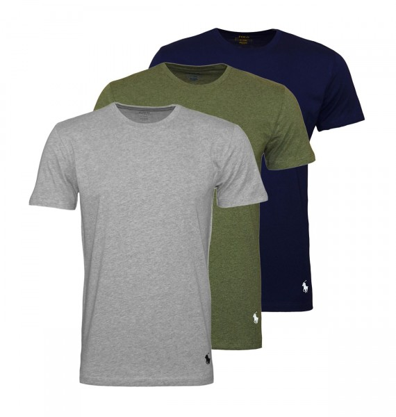 Ralph Lauren 3er Pack T-Shirts Crew-Neck 71470927 4005 navy, reen, grey WF20-RL2