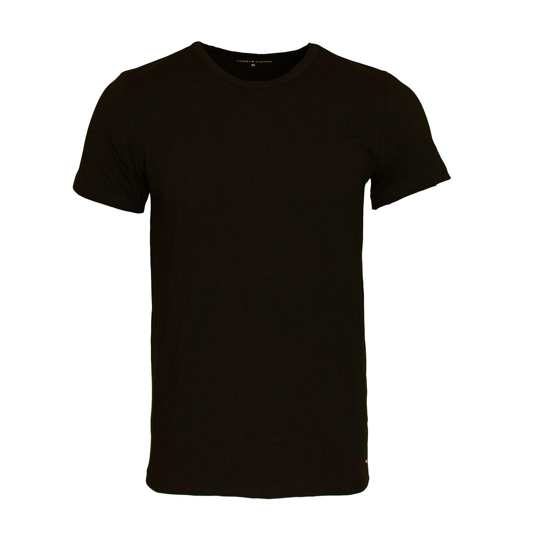 3 er Pack TOMMY HILFIGER Stretch Shirt T-Shirt Tee-Shirt schwarz Rundhals