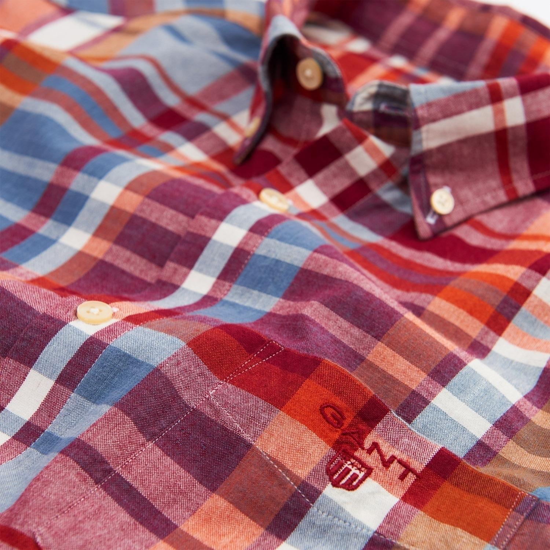 Gant Hemd Herrenhemd O2. FALL MADRAS REG BD 3005020 DESERT BROWN SH18-GHH1