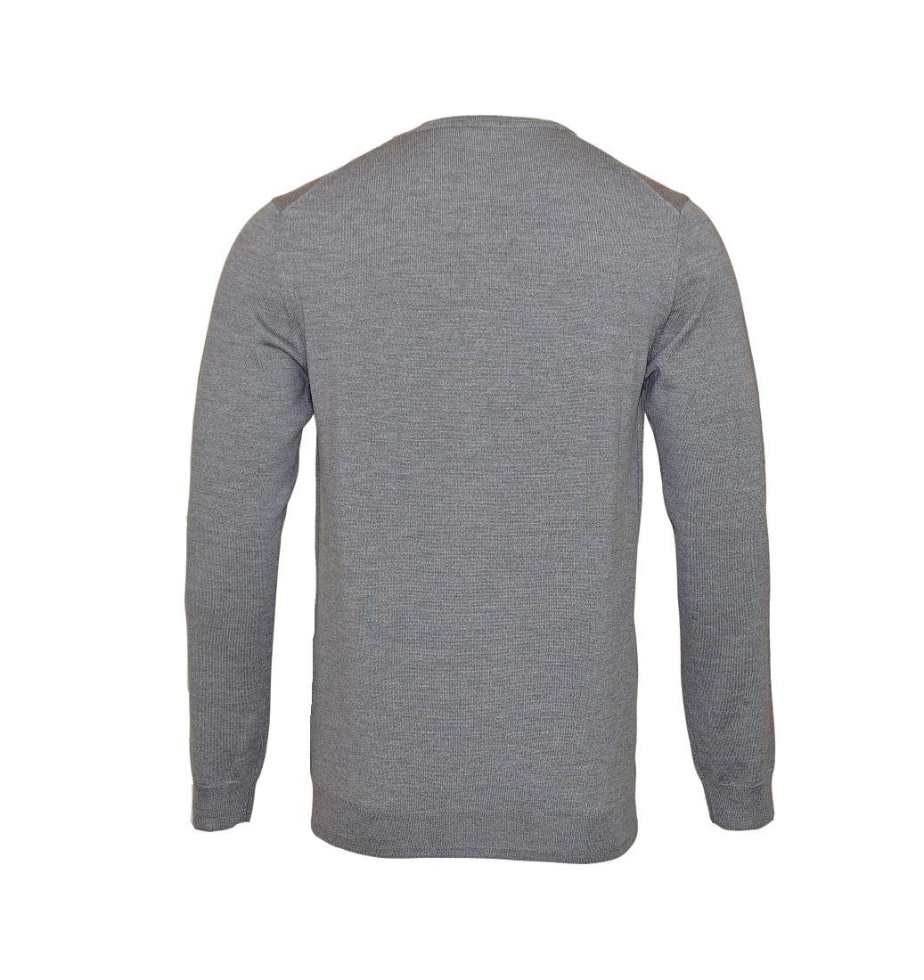 JOOP Strickpullover Pullover Damien V-Ausschnitt 10001600 041 grau S17-JOP1