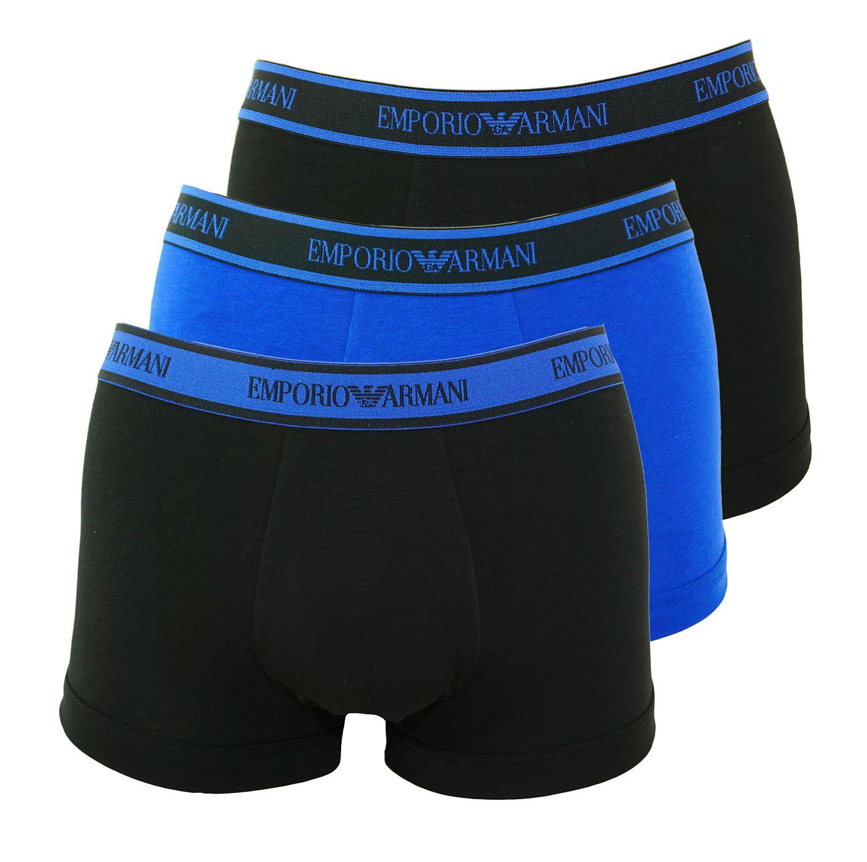 Emporio Armani 3er Pack Trunk Shorts 111357 8A717 59820 NERO/MAZARINE/NERO SH18-AT1