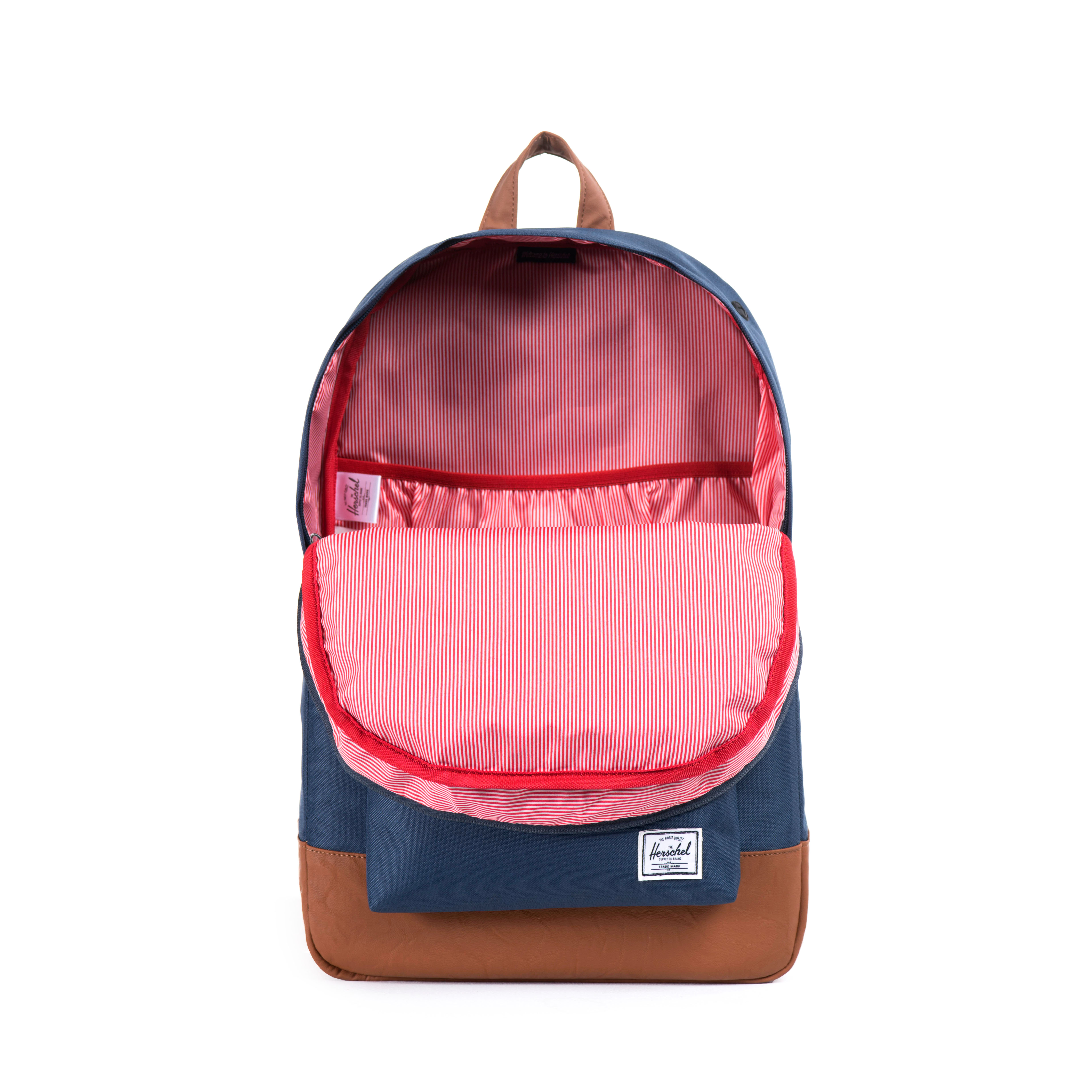 Herschel Rucksack Heritage Backpack Navy/Tan Synthetic Leather 10007-00007 F18-HT1