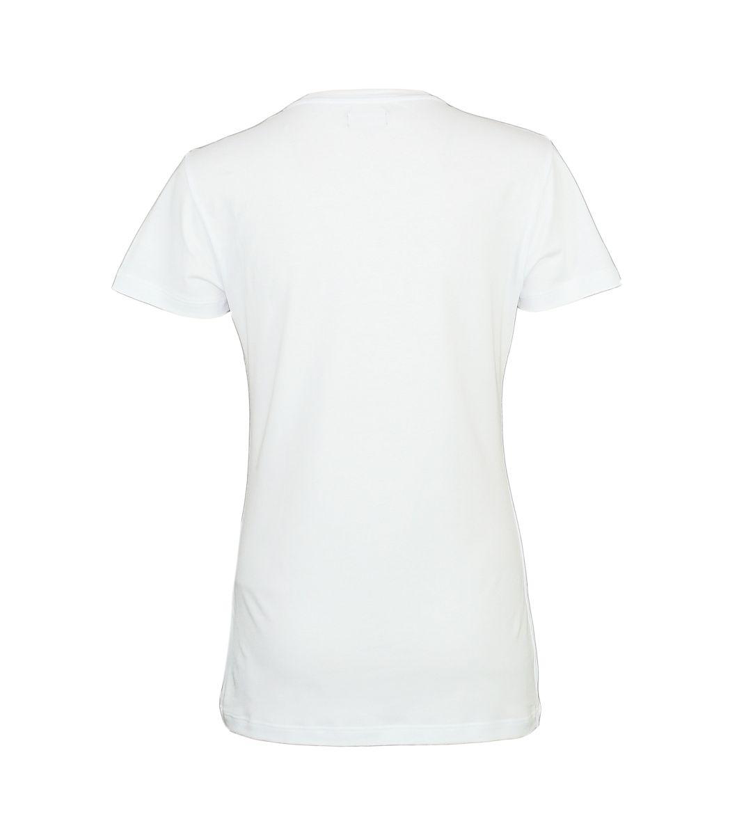Emporio Armani Damen Shirt T-Shirt V-Ausschnitt 163321 7A263 00010 BIANCO HW17-EADS1
