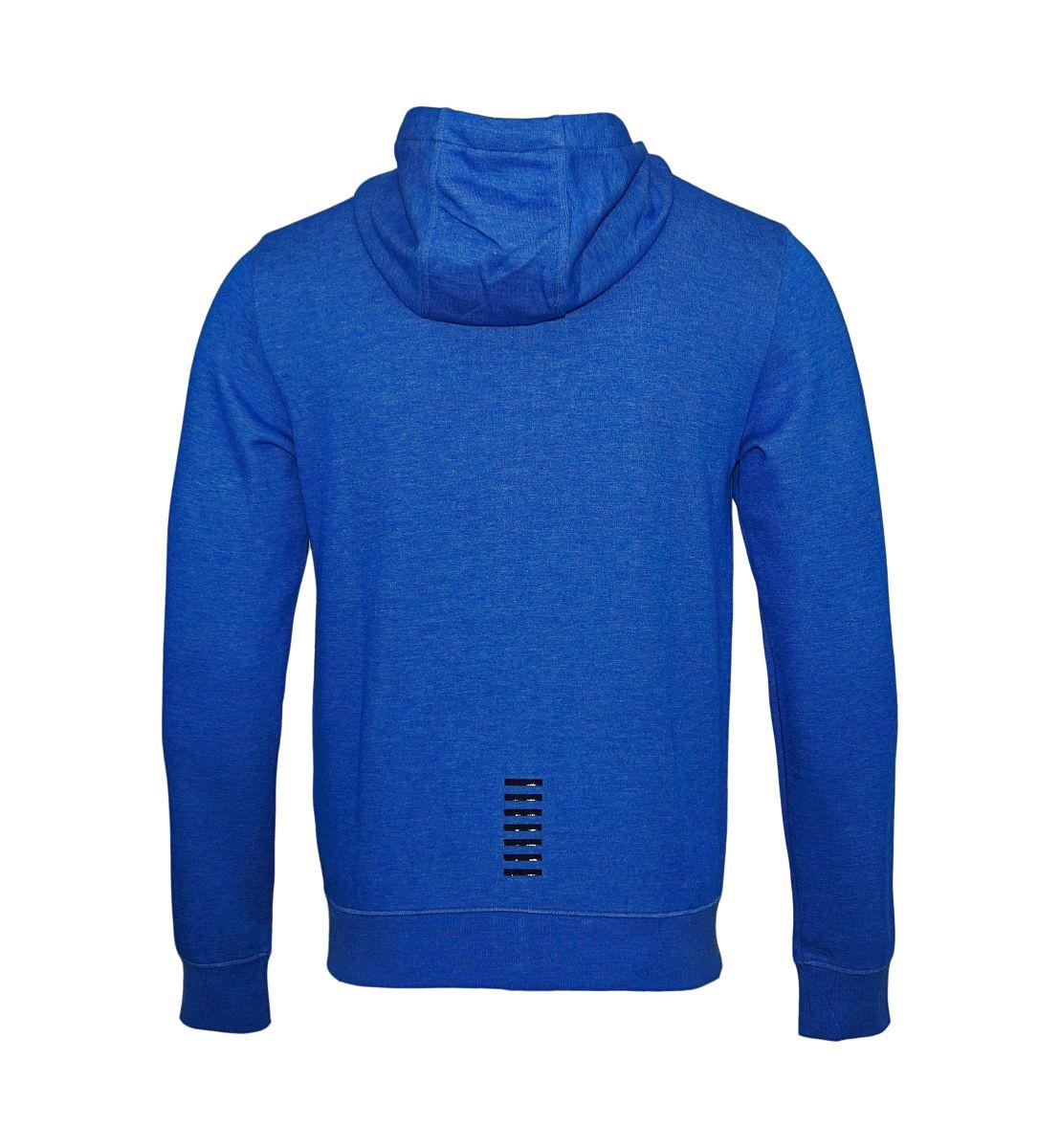 EA7 Emporio Armani Sweatshirt Jacke Hoodie 6YPM69 PJF3Z 3501 Bluette Melange HW17-EAS1