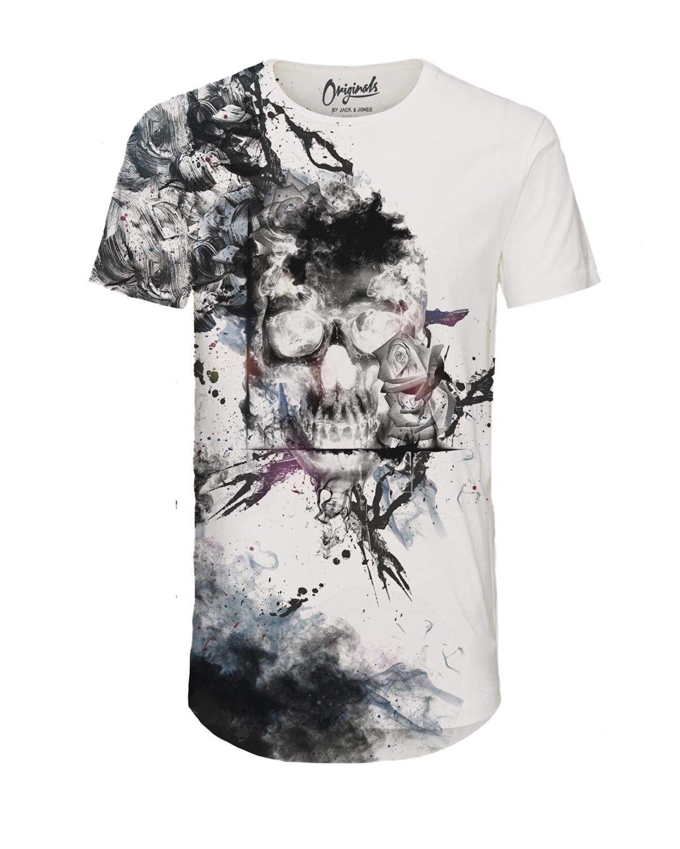Jack & Jones Shirt T-Shirt Rundhals JORSMOKE White 12125278 WF17-TJJ1
