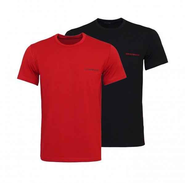 Emporio Armani 2er Pack T-Shirts R-Neck 111267 0A717 91520 red, black HW20-AR1