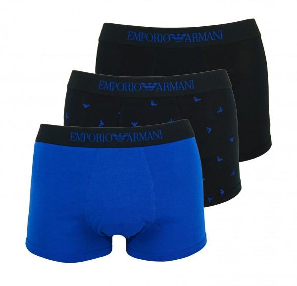 Emporio Armani 3er Pack Trunk 111625 9A722 61635 black, blue WF20-EA2