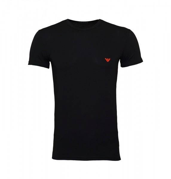 Emporio Armani T-Shirt Rundhals 111035 9P723 00020 schwarz FS19-EAT1