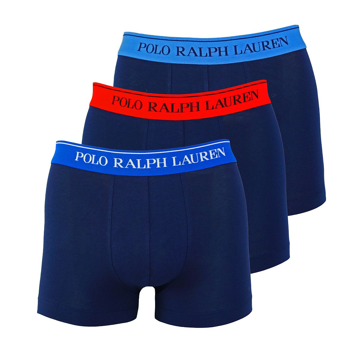 Ralph Lauren 3er Pack Trunks Shorts Spring1UDW NVY/SAPP/ NVY/BLU/ NVY/RED W18-US1