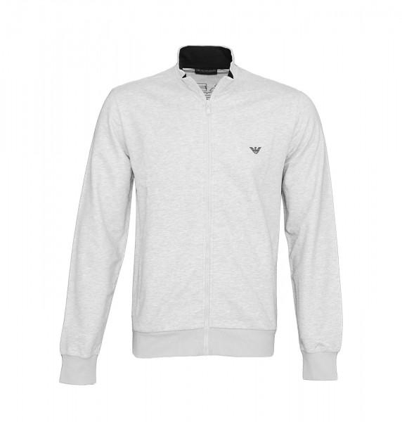 Emporio Armani Sweater Sweatjacke Zipper 111532 9P571 00048 hellgrau SS19-EAS1