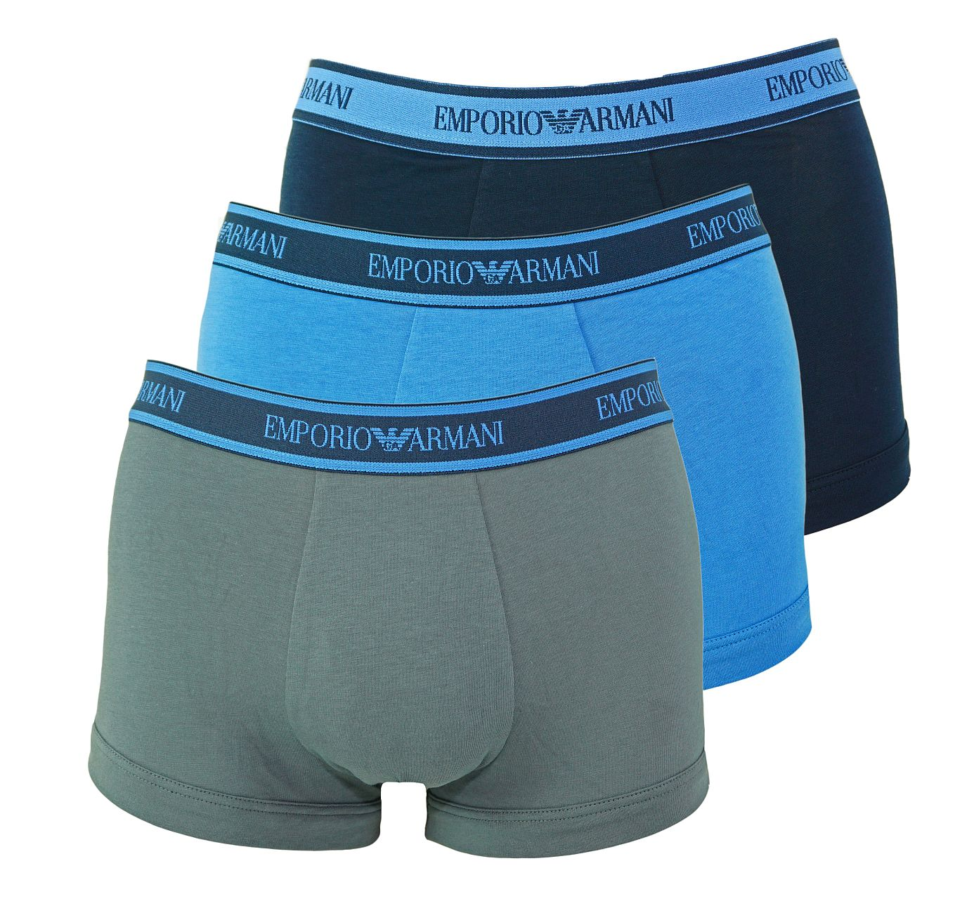 Emporio Armani 3er Pack Trunks Shorts 111357 8A717 54935 MARINE/AVIO/ANTRAC. SH18-AT1