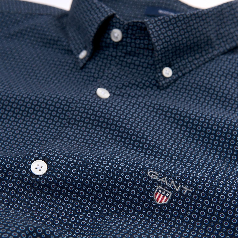 Gant Hemd Herrenhemd O1. MICRO CIRCLE PRINT REG BD 3011630 CLASSIC BLUE SH18-GHH1