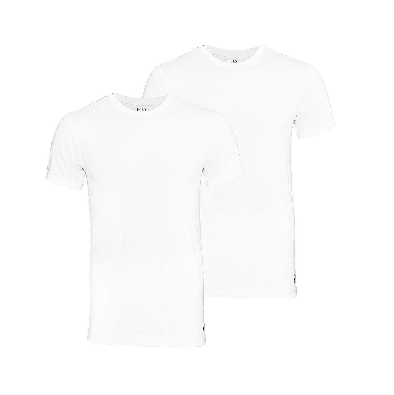 2er Pack Ralph Lauren T-Shirts weiss 252 U2CRWCRCCTA1000 HW16