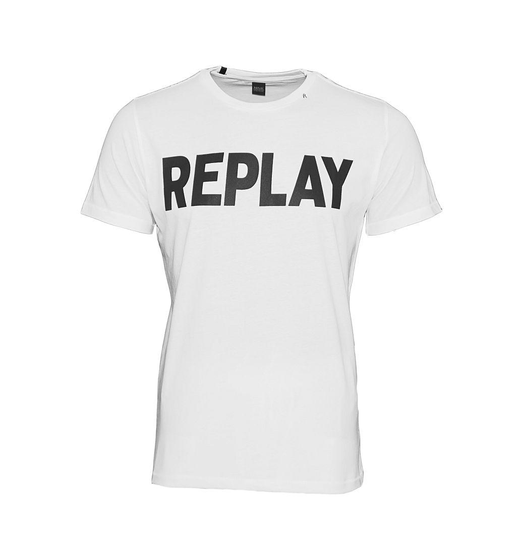 Replay T-Shirt Rundhals M3361 000 2660 001 weiss W18-RYT1