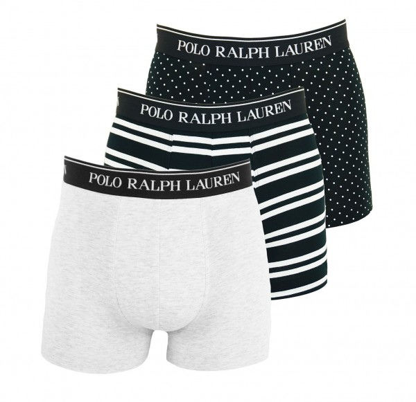Ralph Lauren 3er Pack Shorts Trunk 71466205 0058 black, white WF20-RL1