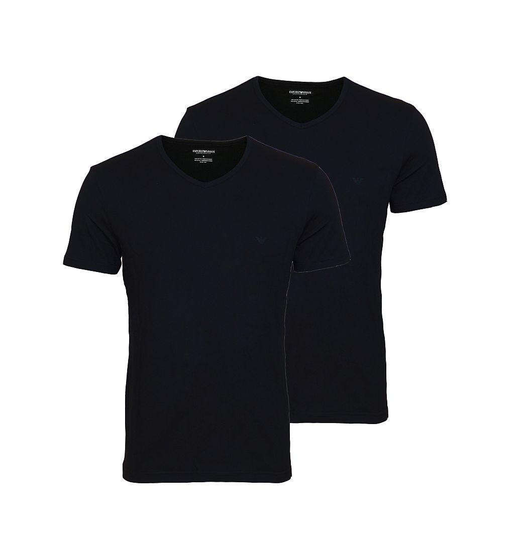 EMPORIO ARMANI 2er Pack Shirt T-Shirt schwarz V-Ausschnitt 111648 CC722 07320 HW16