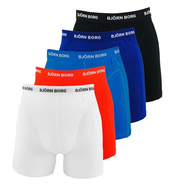 Björn Borg 5er Pack Boxer Boxershorts 9999-1026 90011 black, blue, red, white HW19-BB1
