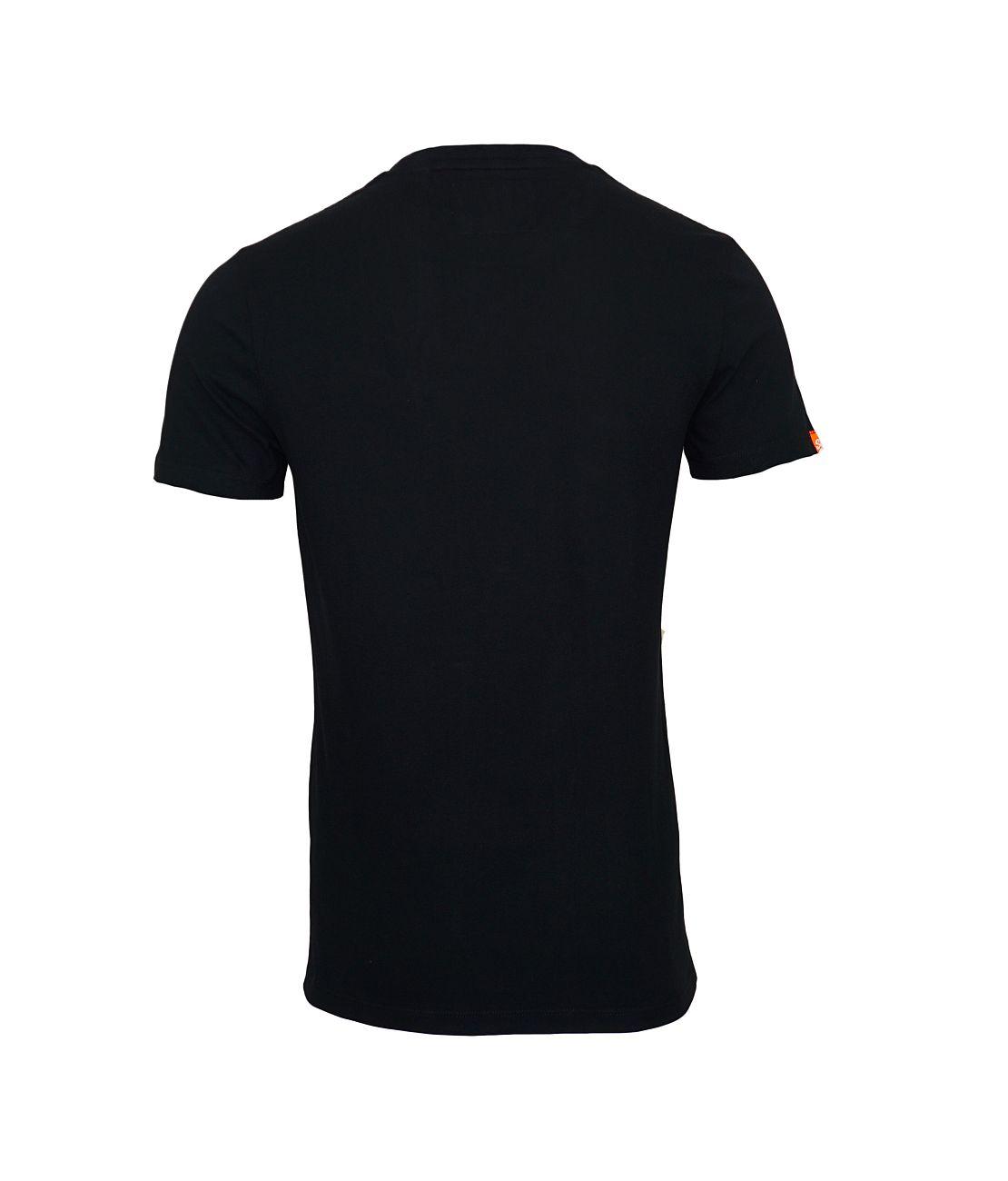 Superdry T-Shirt Orange Label Vintage EMB Tee M10000NS Black F18-SDT1