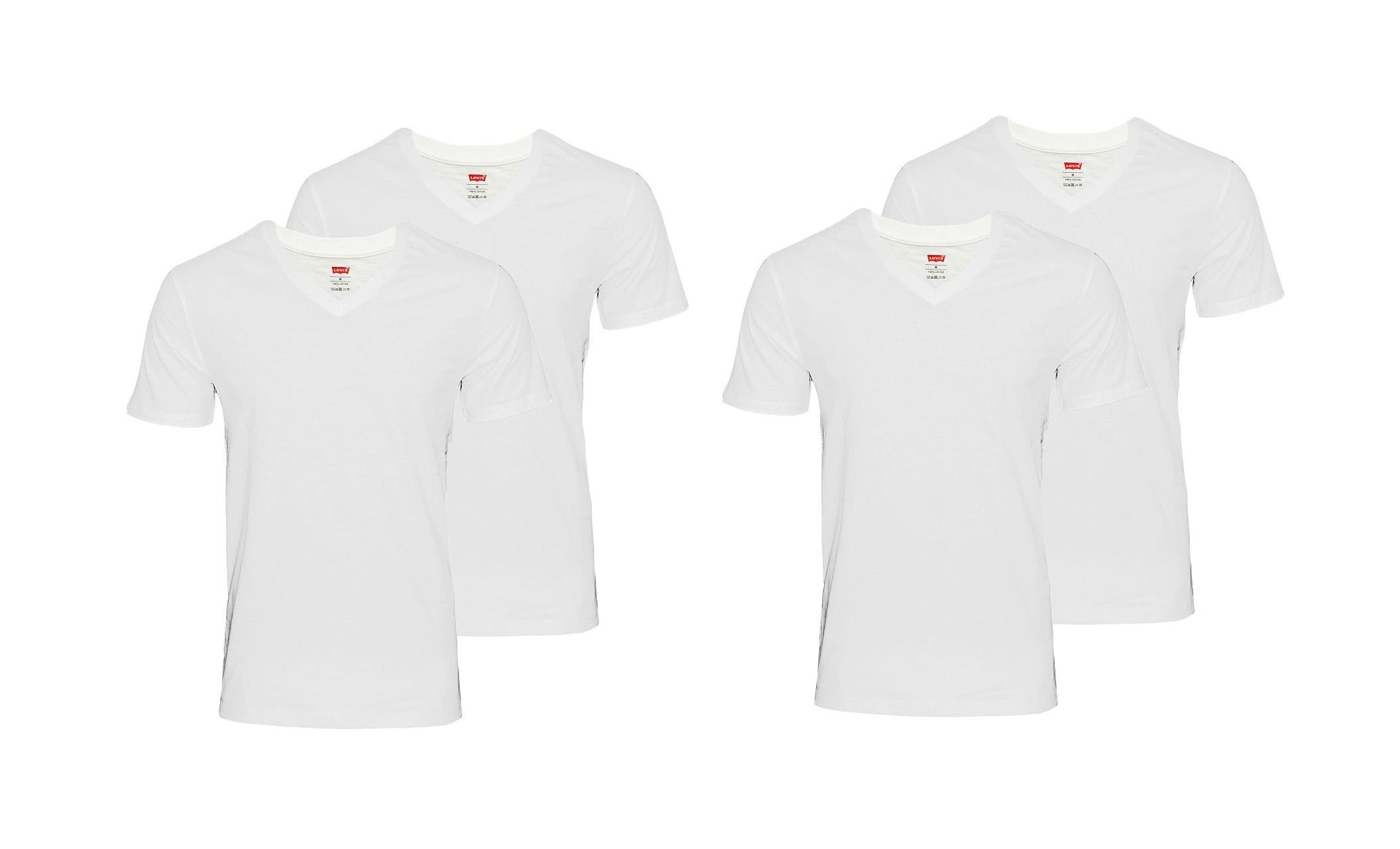 LEVIS Shirts 200SF 2 x 2er Pack T-Shirt 945004001 300 White SF17-LVSS2