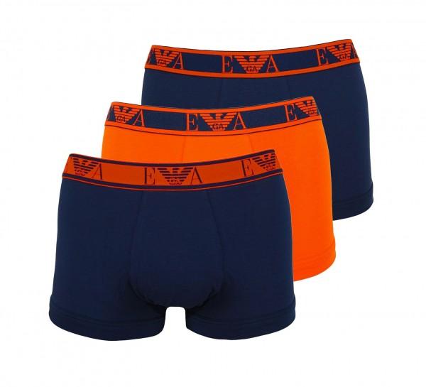 Emporio Armani 3er Pack Trunk Shorts 111357 0A715 70635 Navy, Orange HW20-AT1