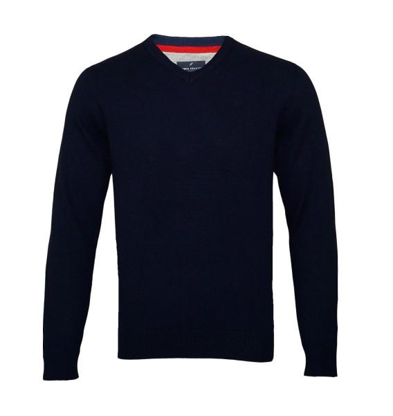 Daniel Hechter Pullover Sweater V-Neck 100805 690 navy SH19-DHP