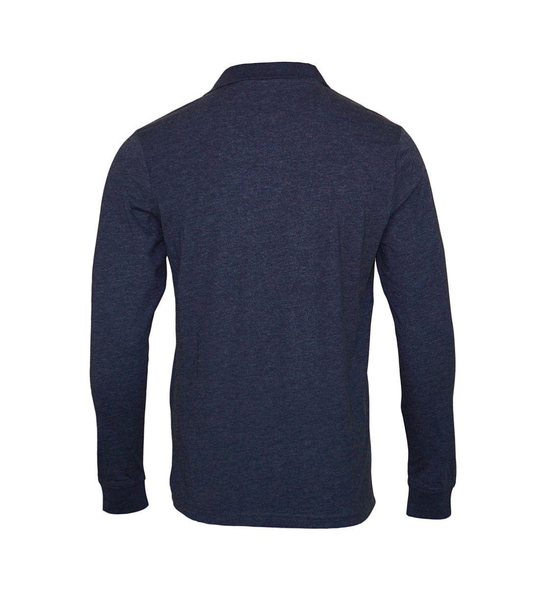 Daniel Hechter Longsleeve Poloshirt 75003 172900 680 dunkelblau melange SH17-DHL1