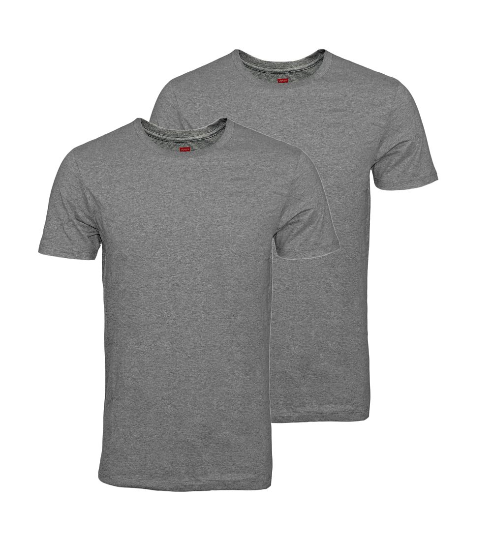 LEVIS Shirts 200SF 2er Pack T-Shirt Middle Grey Melange 945003001 758 020 SF17-LVSS1