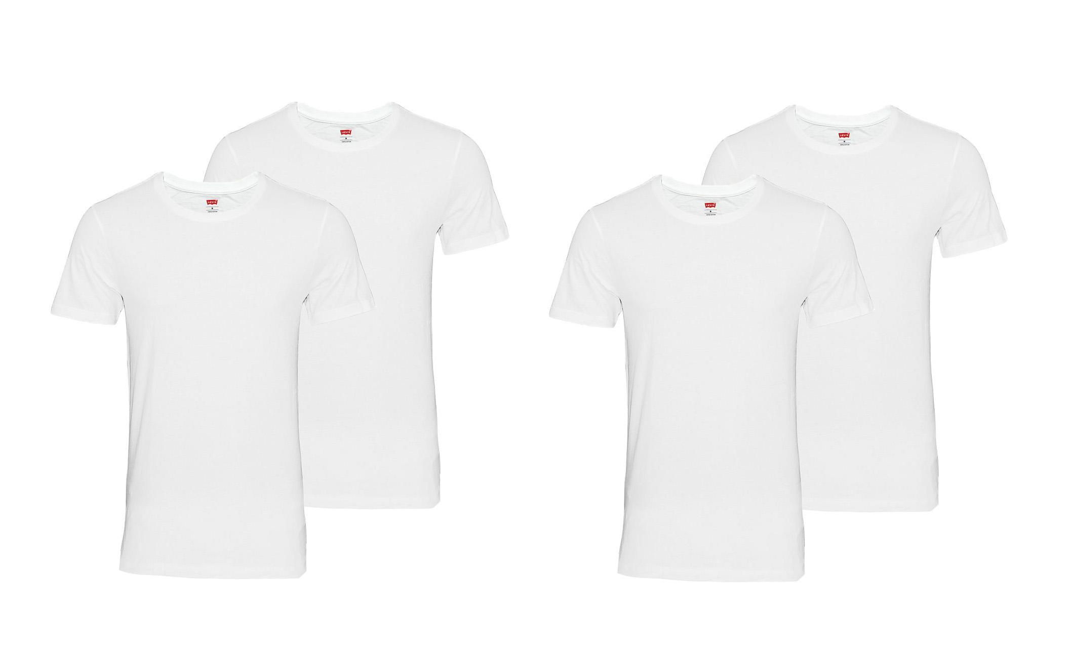 LEVIS Shirts 200SF 2 x 2er Pack T-Shirt Shirts White 945003001 300 SF17-LVSS2