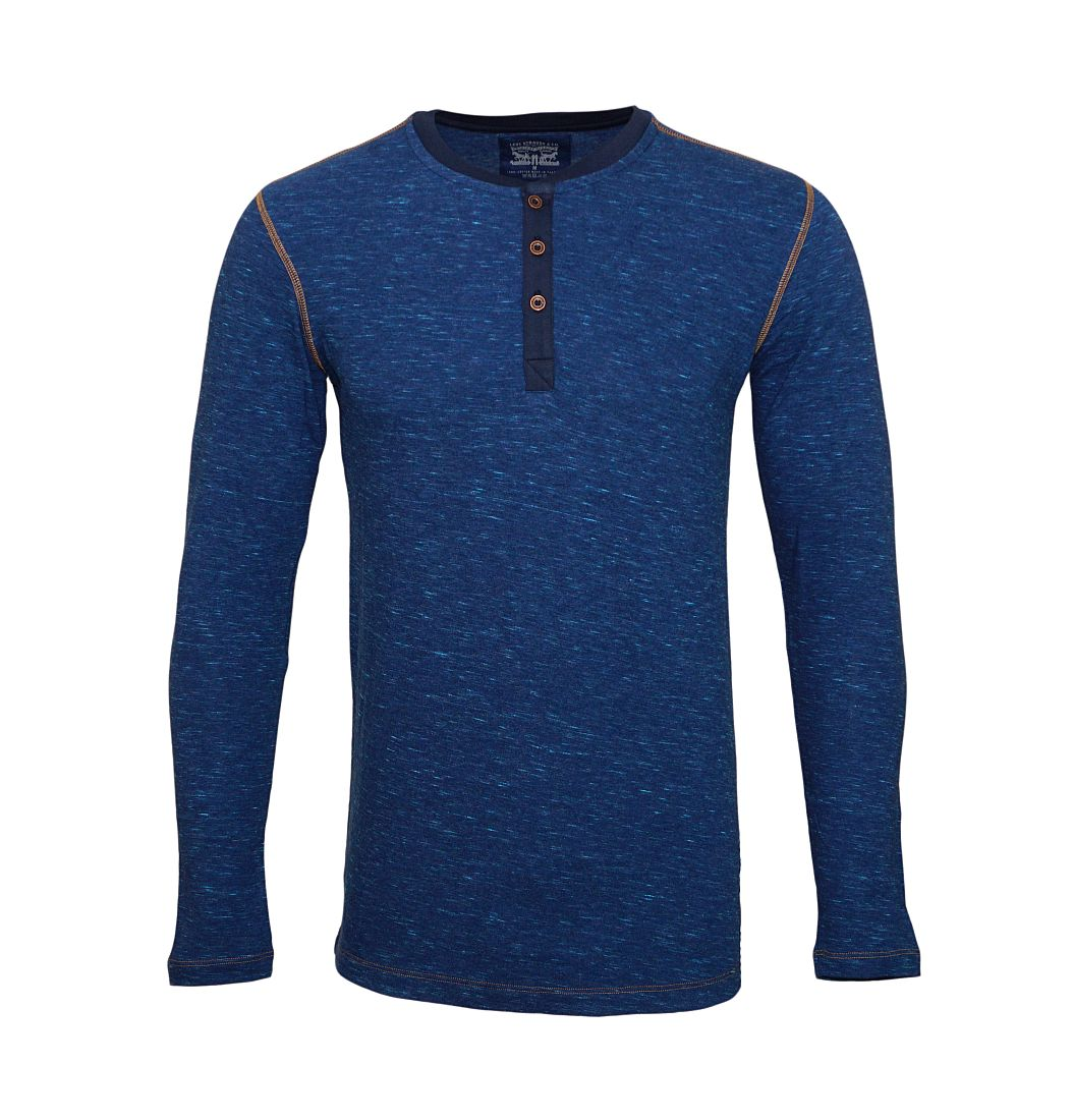 LEVIS Shirts Longsleeve Henley Blue Jeans 972002001 599 020 SF17-LVLV1