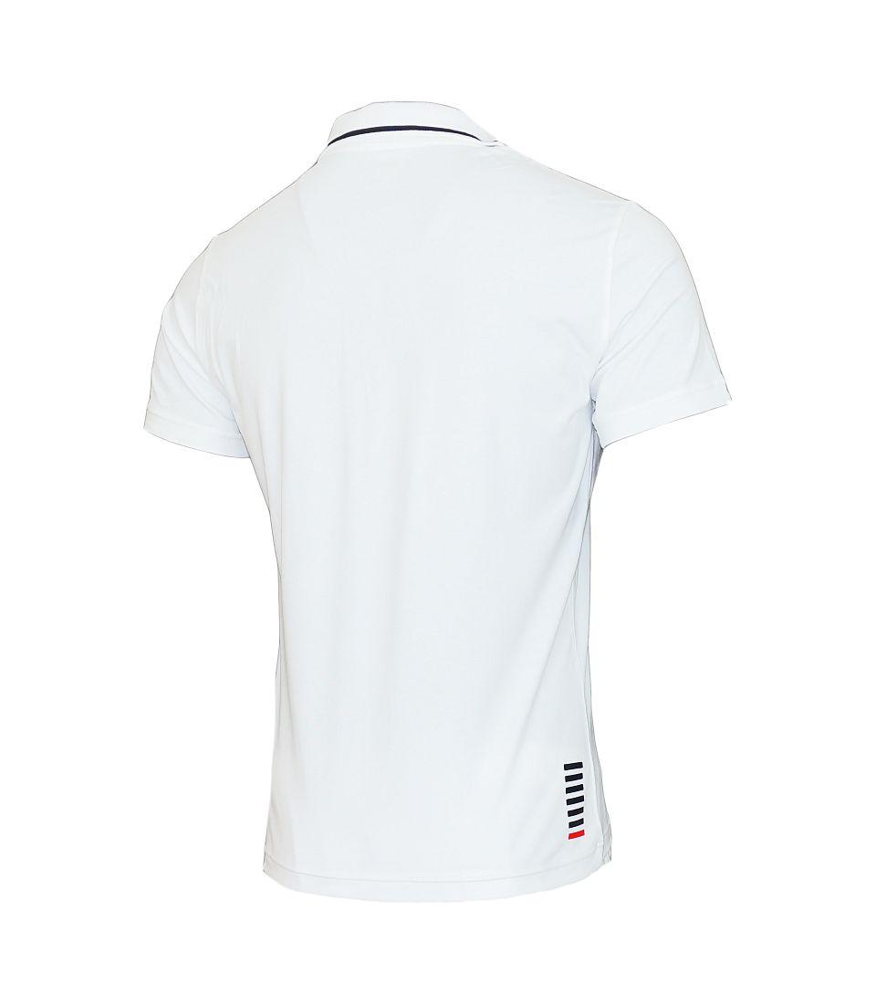 EA7 Emporio Armani POLO Poloshirt 3YPF51 PJ03Z 1100 White weiss S17-EAP1
