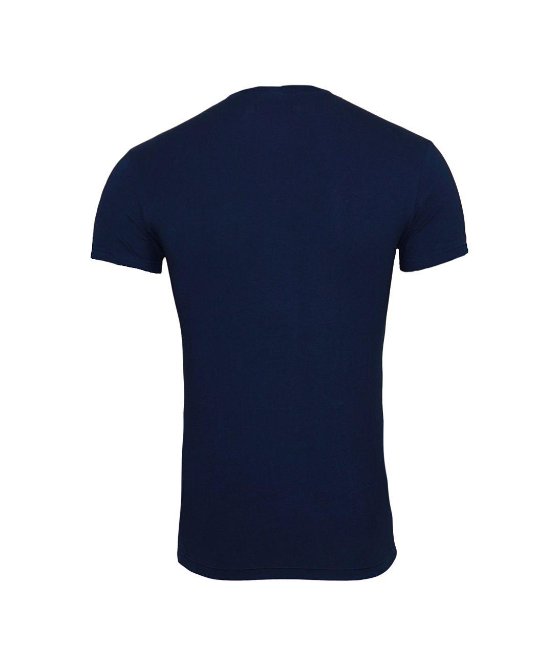 Emporio Armani T-Shirt V-Ausschnitt 110810 8P512 00135 MARINE F18-EAT1