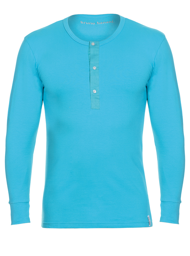 Bruno Banani Longsleeve Shirt türkis Rundhals BB16 1342 2202 225Z