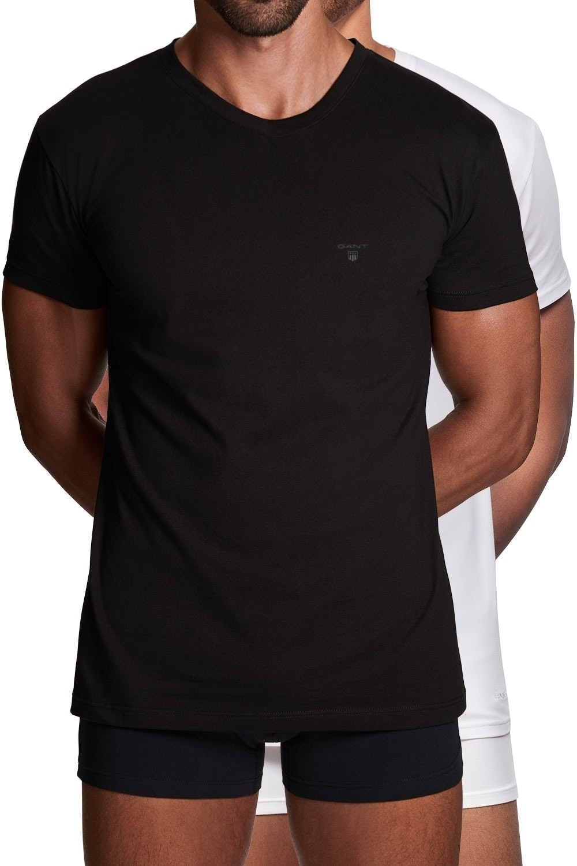 Gant 2er Pack Basic T-Shirts mit Rundhals 2108 BLACK / WHITE SH18-GT1