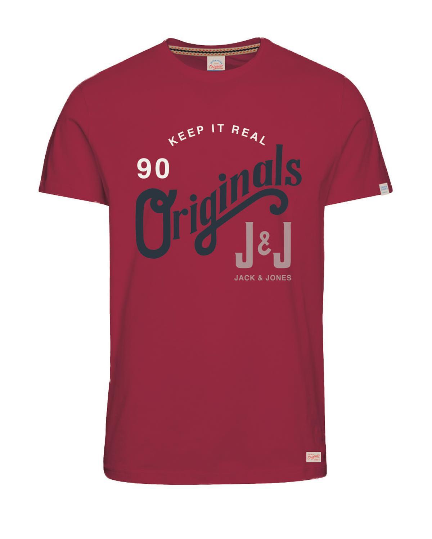 Jack & Jones Shirt T-Shirt JORREAL Rundhals Rosewood 12118714 WF17-TJJ1