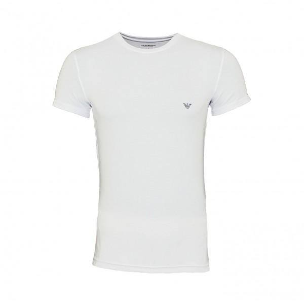 Emporio Armani T-Shirt Rundhals 111035 9P745 00010 weiß FS19-EAT1