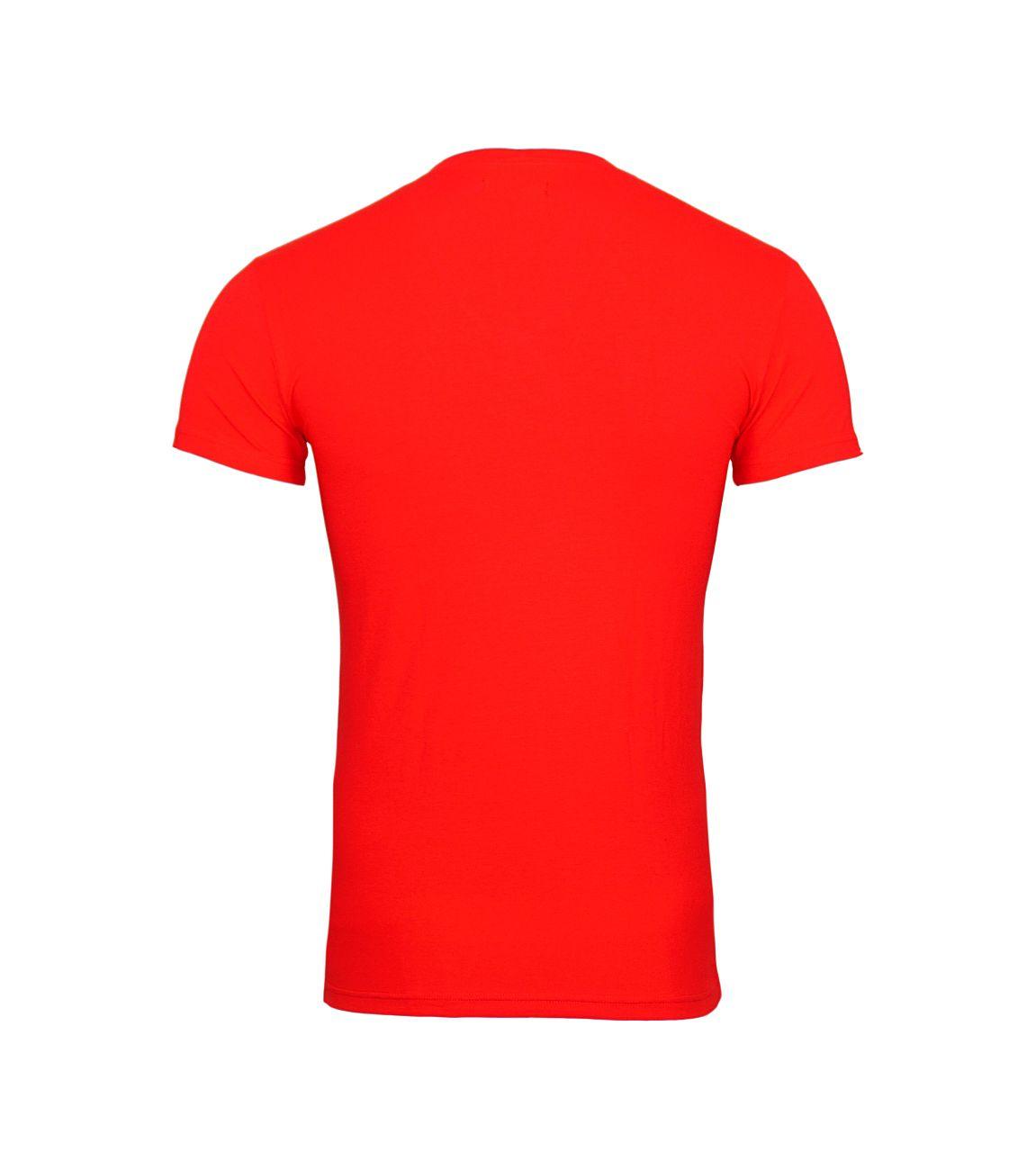 Emporio Armani T-Shirt V-Ausschnitt 110810 8P512 17574 TANGO RED F18-EAT1