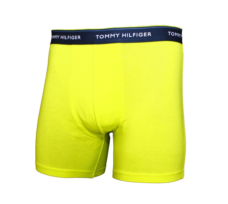 3 er Pack TOMMY HILFIGER Underwear Shorts Unterhose Classic Stretch Boxer navy, blau, gelb