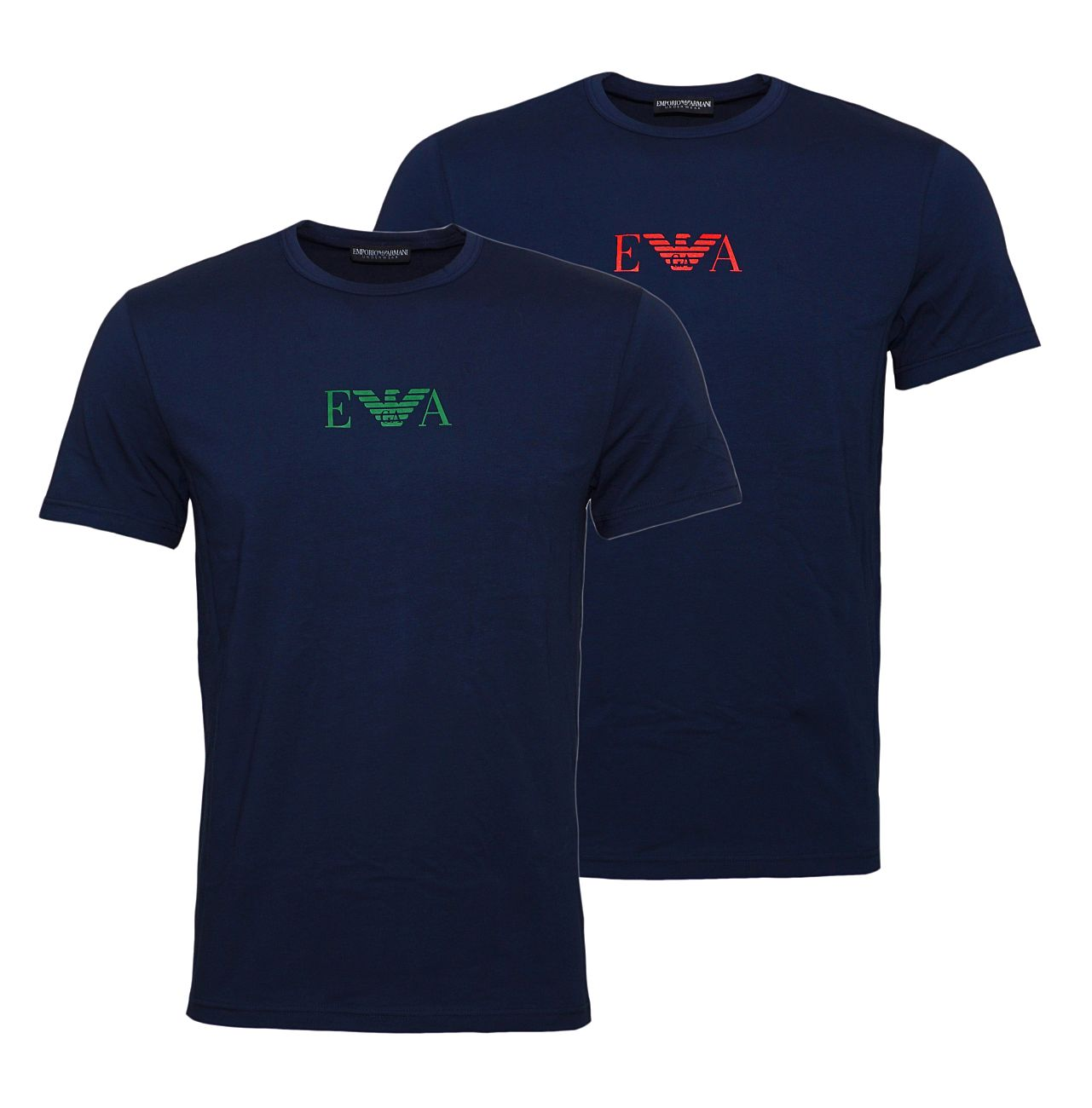 Emporio Armani 2er Pack T-Shirts Rundhals 111267 8A715 27435 MARINE/MARINE SH18-EAT1
