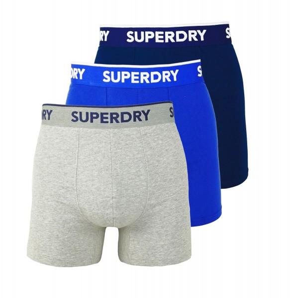 Superdry 3er Pack Boxer Short M3110082A 4KB navy, blue, grey