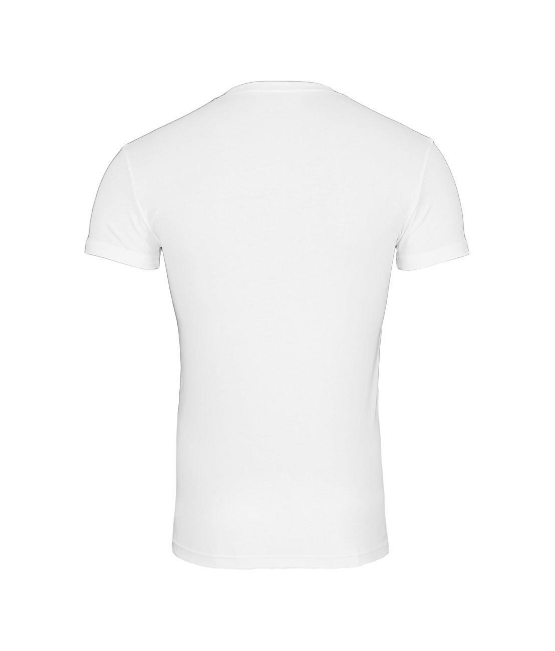 Emporio Armani T-Shirt V-Ausschnitt 110810 8P512 00010 BIANCO F18-EAT1