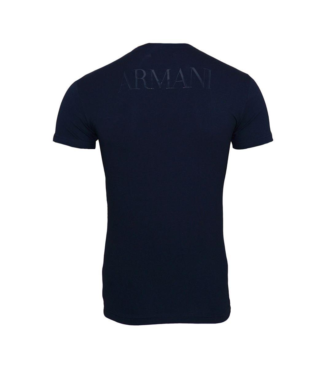 Emporio Armani T-Shirt Rundhals 111035 8P516 00135 MARINE W18-EATS1