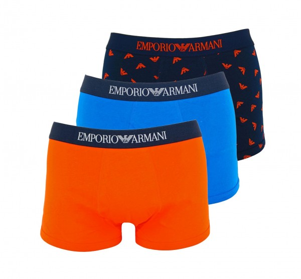 Emporio Armani 3er Pack Trunk Shorts 111625 0P722 29033 navy, blue, red WF20-AR2