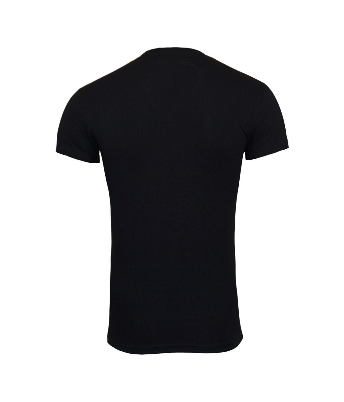 Emporio Armani T-Shirt V-Ausschnitt 110810 8P512 00020 NERO F18-EAT1