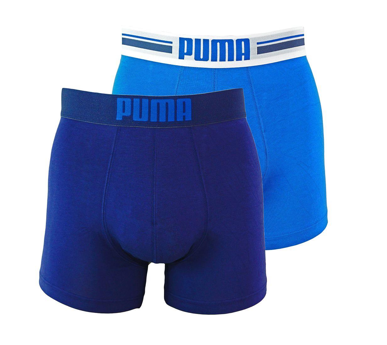 PUMA Shorts Unterhosen 2er Pack Boxer 651003001 056 020 blue SF17-PMS1